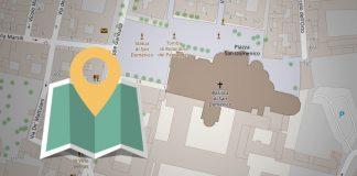 Mappa per raggiungere la basilica di San Domenico